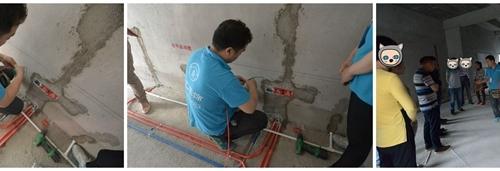 [北海365网友看工地]水电工程到底要注意什么?一场看工地活动让你明明白白,游师傅现场讲解水电知识